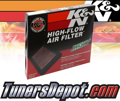 K&N® Drop in Air Filter Replacement - 95-95 Volvo 940 2.3L 4cyl