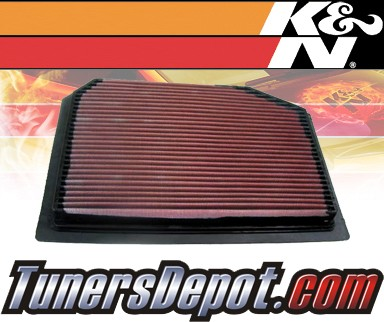 K&N® Drop in Air Filter Replacement - 95-97 Porsche 911 3.8L H6