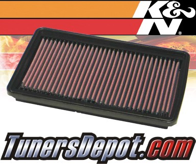 K&N® Drop in Air Filter Replacement - 95-99 Hyundai Accent 1.5L 4cyl