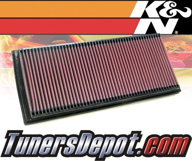 K&N® Drop in Air Filter Replacement - 95-99 Mercedes S320 W140 3.2L L6