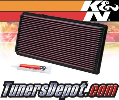 K&N® Drop in Air Filter Replacement - 96-00 Jeep Cherokee 2.5L 4cyl