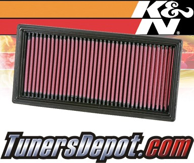 K&N® Drop in Air Filter Replacement - 96-01 Chrysler Voyager II 2.4L 4cyl