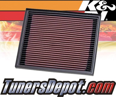 K&N® Drop in Air Filter Replacement - 96-02 Land Rover Range Rover II 2.5L L6 Diesel