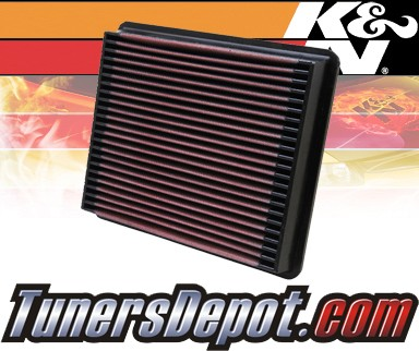 K&N® Drop in Air Filter Replacement - 96-96 Mazda 323 1.6L 4cyl