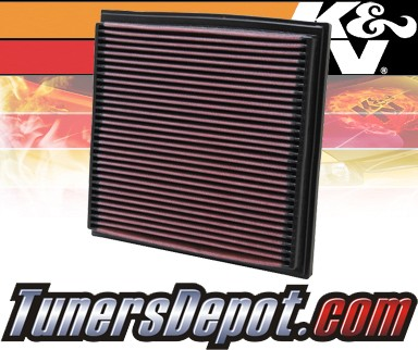 K&N® Drop in Air Filter Replacement - 96-98 BMW 318i E36 1.9L 4cyl
