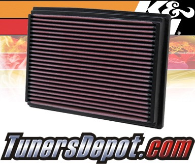 K&N® Drop in Air Filter Replacement - 96-98 Ford Fiesta 1.6L 4cyl