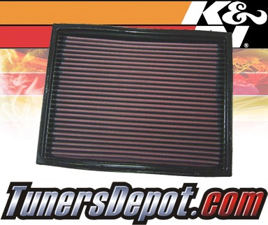 K&N® Drop in Air Filter Replacement - 96-98 Land Rover Discovery II 2.5L 4cyl Diesel