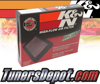 K&N® Drop in Air Filter Replacement - 97-00 BMW 528i E39 2.8L L6