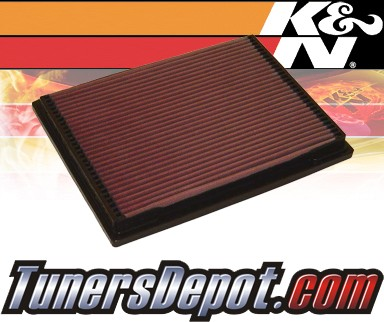 K&N® Drop in Air Filter Replacement - 97-00 Mercedes C230 W202 2.3L 4cyl
