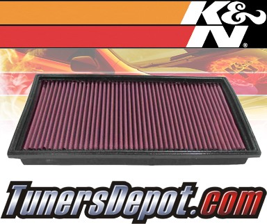 K&N® Drop in Air Filter Replacement - 97-00 Mercedes C43 AMG W202 4.3L V8