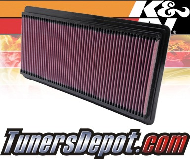 K&N® Drop in Air Filter Replacement - 97-02 Chevy Express 3500 6.5L V8 Diesel