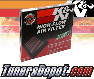 K&N® Drop in Air Filter Replacement - 97-03 Daewoo Nubira 1.6L 4cyl