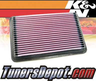 K&N® Drop in Air Filter Replacement - 97-04 Hyundai Excel 1.5L 4cyl