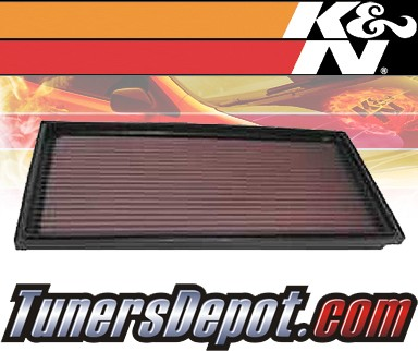K&N® Drop in Air Filter Replacement - 97-04 Volvo V40 1.9L 4cyl Diesel