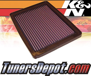 K&N® Drop in Air Filter Replacement - 97-97 Hyundai Tiburon 1.8L 4cyl