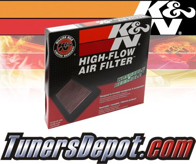 K&N® Drop in Air Filter Replacement - 97-99 Mitsubishi Montero 2.4L 4cyl