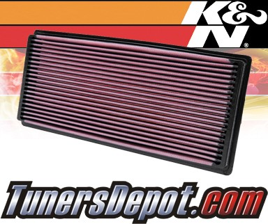K&N® Drop in Air Filter Replacement - 98-02 Jeep Wrangler 2.5L 4cyl