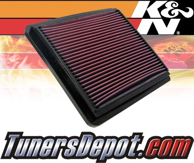 K&N® Drop in Air Filter Replacement - 98-03 Daewoo Leganza 2.2L 4cyl