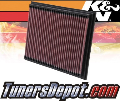 K&N® Drop in Air Filter Replacement - 98-04 Mercedes SLK230 R170 2.3L 4cyl
