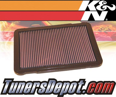 K&N® Drop in Air Filter Replacement - 98-07 Toyota Land Cruiser 4.7L V8