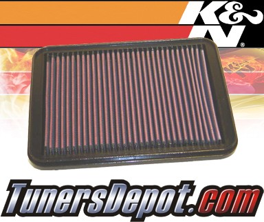 K&N® Drop in Air Filter Replacement - 98-98 Mitsubishi Galant 2.0L 4cyl