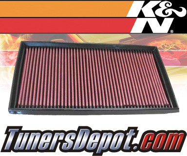K&N® Drop in Air Filter Replacement - 98-99 Mercedes E430 W210 4.3L V8
