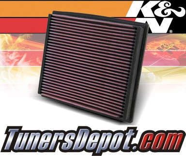 K&N® Drop in Air Filter Replacement - 99-01 Audi A6 2.8L V6