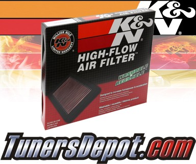 K&N® Drop in Air Filter Replacement - 99-01 Hyundai Sonata 2.5L V6