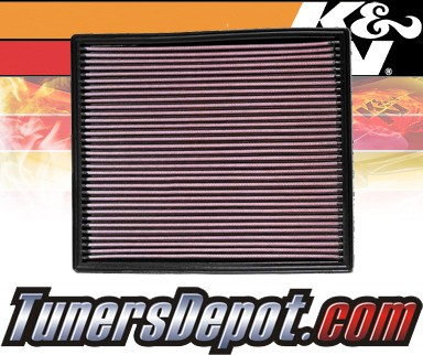 K&N® Drop in Air Filter Replacement - 99-04 Jeep Grand Cherokee 4.0L L6