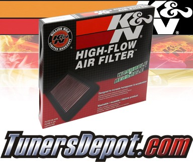 K&N® Drop in Air Filter Replacement - 99-04 Porsche Boxster 3.2L H6