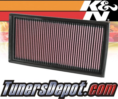 K&N® Drop in Air Filter Replacements - 07-12 Mercedes C63 AMG W204 6.3L V8 (2 Filters)