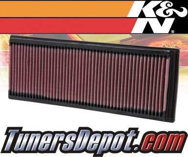 K&N® Drop in Air Filter Replacements (PAIR) - 01-04 Mercedes C240 W203 2.6L V6