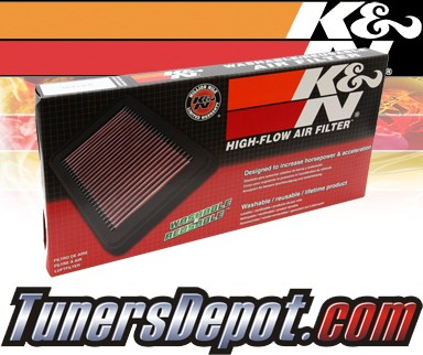 K&N® Drop in Air Filter Replacements (PAIR) - 05-07 Mercedes C230 W203 2.5L V6