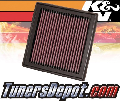 K&N® Drop in Air Filter Replacements (PAIR) - 07-09 Nissan 350Z 3.5L V6 (2 Filters)