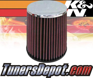 K&N® Universal Air Filter - 2.5 inch Cylinder Chrome Top