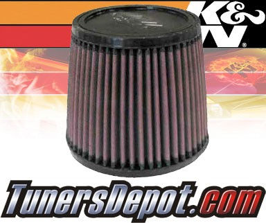 K&N® Universal Air Filter - 2.75 inch Cylinder Rubber Top