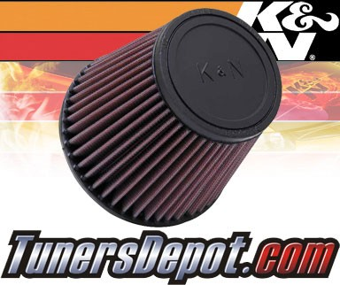 K&N® Universal Air Filter - 3 inch Cylinder Rubber Top
