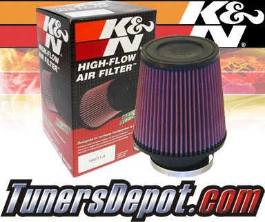 K&N® Universal Air Filter - 3.5 inch Cylinder Rubber Top 6in length