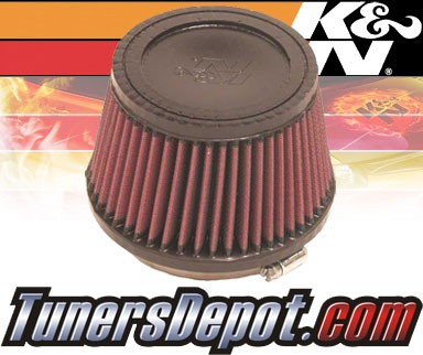 K&N® Universal Air Filter - 4 inch Cone Rubber Top