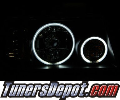 KS® 1 pc Crystal CCFL Halo Headlights (Black) - 01-11 Ford Ranger