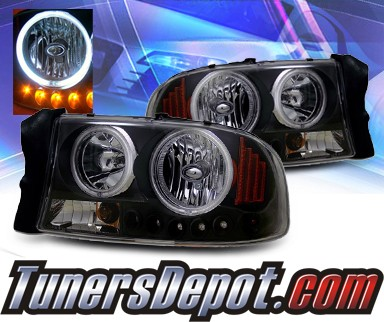 KS® 1 pc Crystal CCFL Halo Headlights (Black) - 97-04 Dodge Dakota