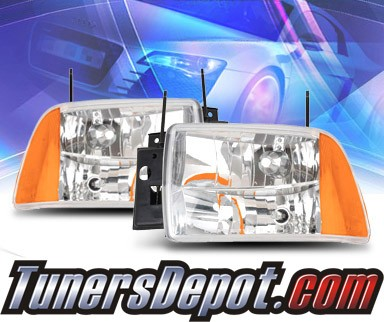 KS® 1 pc Crystal Headlights - 95-97 Chevy Blazer