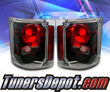 KS® Altezza Tail Lights (Black) - 73-91 Chevy Suburban