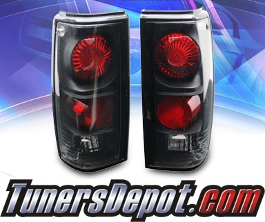KS® Altezza Tail Lights (Black) - 82-93 Chevy S-10 S10