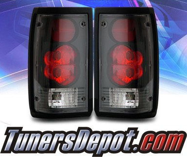 KS® Altezza Tail Lights (Black) - 86-93 Mazda B2600 Pickup
