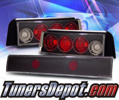KS® Altezza Tail Lights (Black) - 88-91 Honda Civic 3dr.