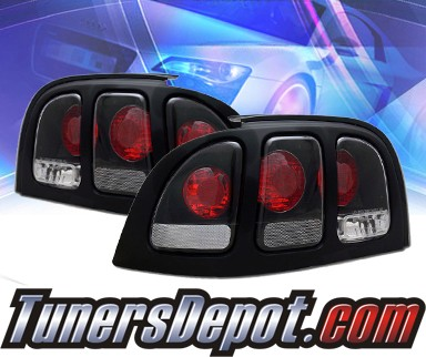 KS® Altezza Tail Lights (Black) - 94-98 Ford Mustang
