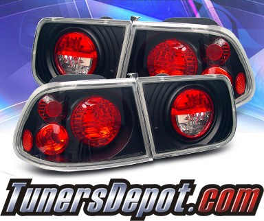 KS® Altezza Tail Lights (Black) - 96-00 Honda Civic 2dr.