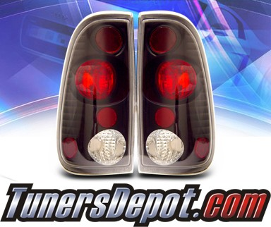 KS® Altezza Tail Lights (Black) - 97-03 Ford F-450 F450 Super Duty
