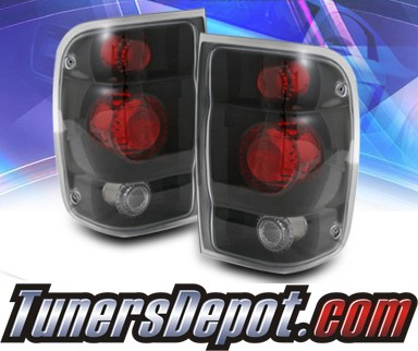 KS® Altezza Tail Lights (Black) - 98-00 Ford Ranger